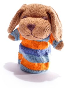 Blue Stripe Dog Puppet