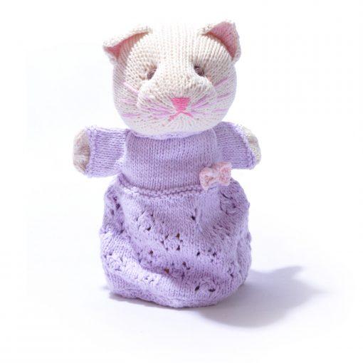 Organic Cotton Cat Hand Puppet by ChunkiChilli