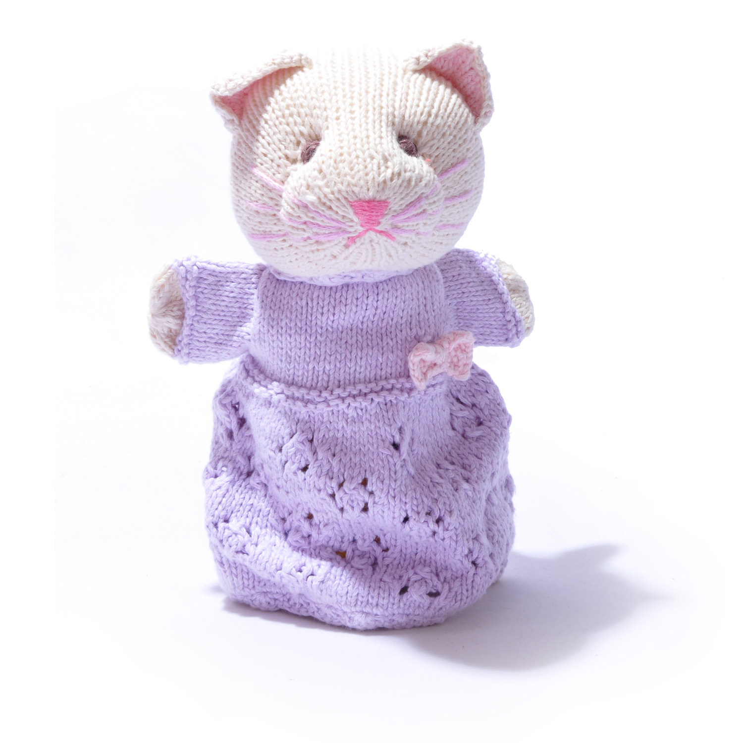 Organic Cotton Cat Hand Puppet by ChunkiChilli