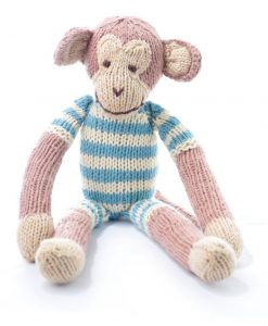 Monkey in Blue Stripe