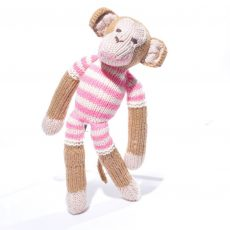 Monkey in Pink Stripe