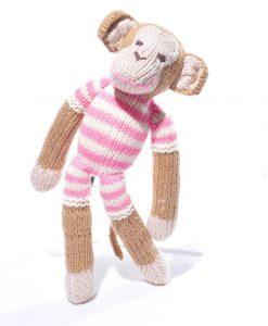 Monkey in Pink Stripe