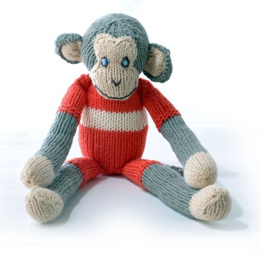 Monkey in Red with White Stripe