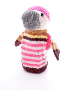 Pink Beanie Eagle Hand Puppet