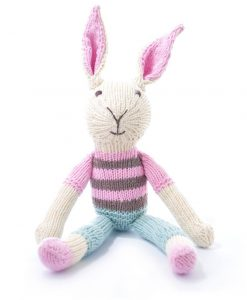 Rabbit in Pink Stripe Top