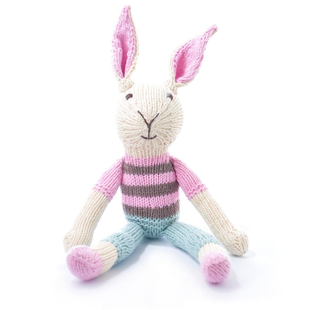 Rabbit in Pink Stripe Top