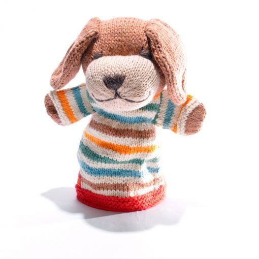 Stripy Dog Hand Puppet
