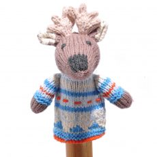 Moose Toddler Finger Puppet