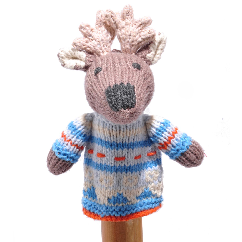 Moose Toddler Finger Puppet