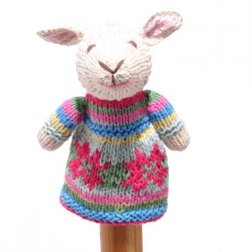 Sheep Toddler Finger Puppet