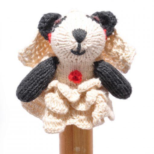 Panda Bride Toddler Finger Puppet