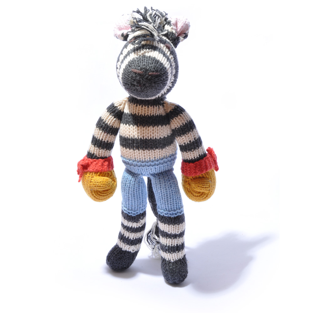 Boxing Zebra Soft Toy