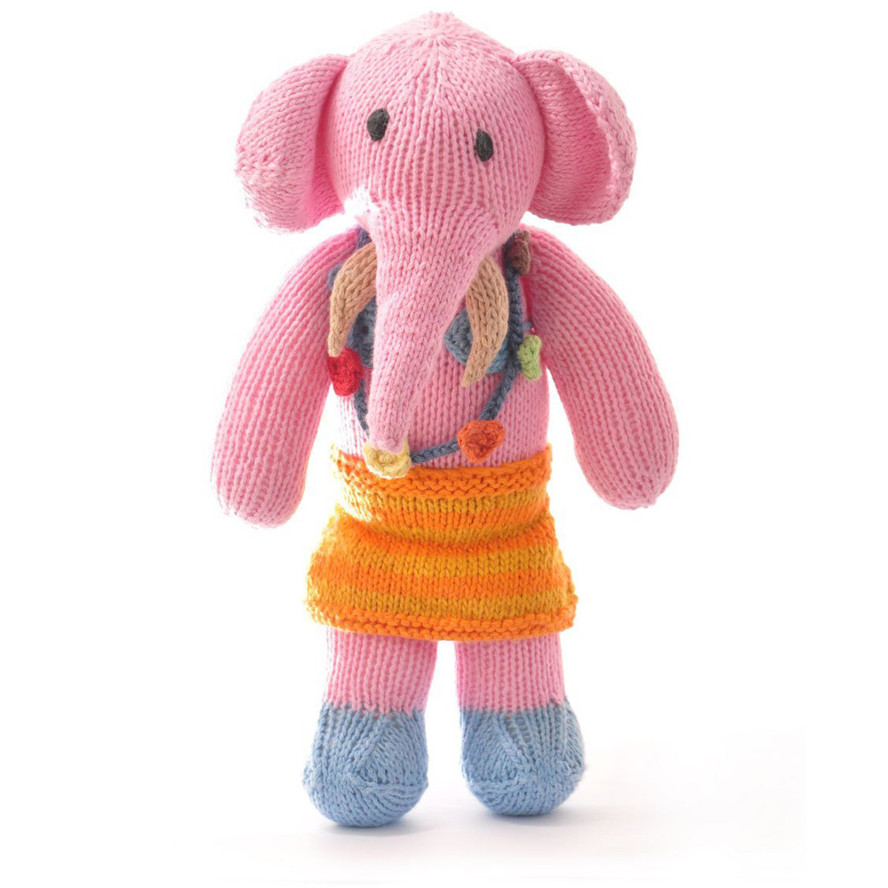 Organic Cotton Hawaii Elephant Soft Toy