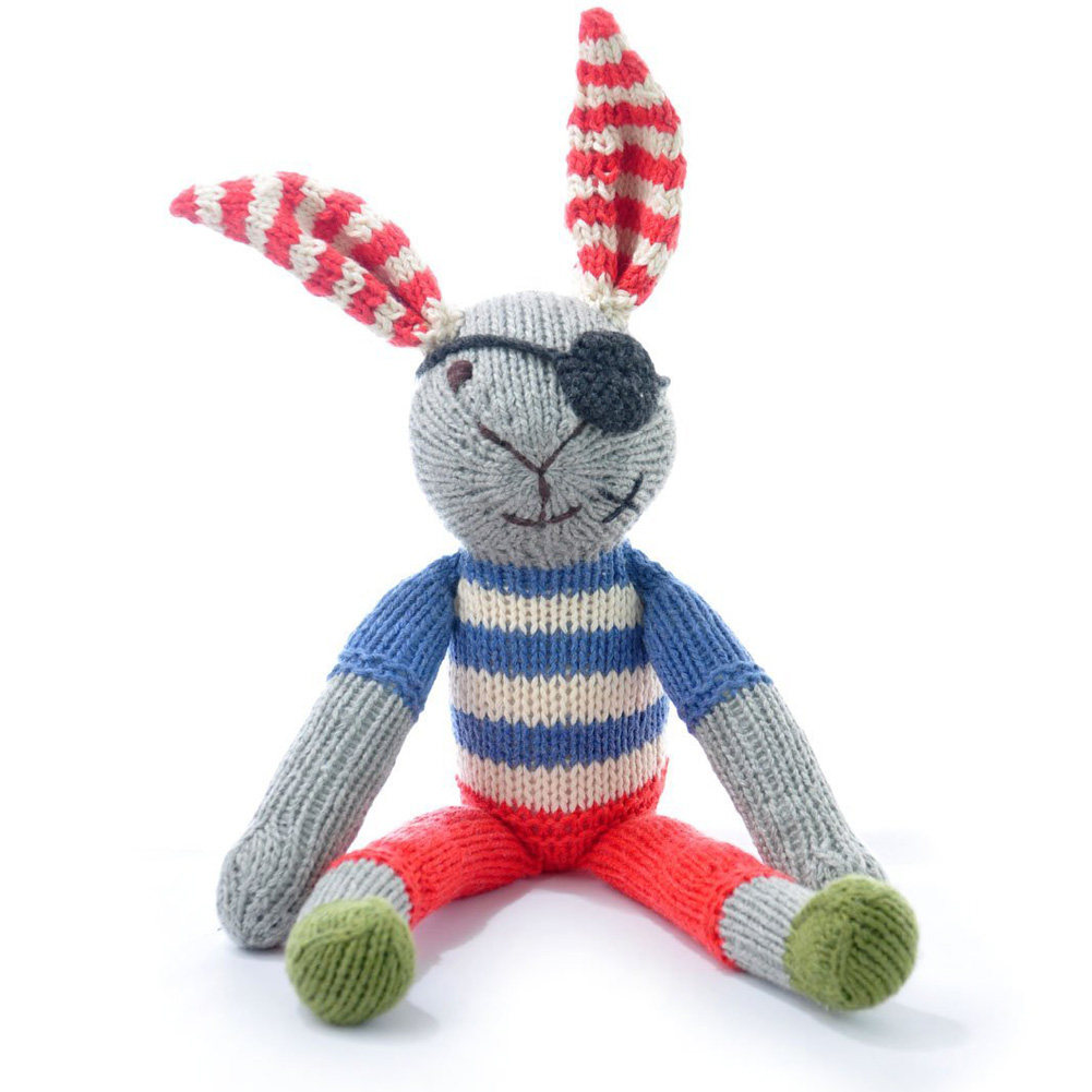 Organic Cotton Pirate Rabbit Soft Toy