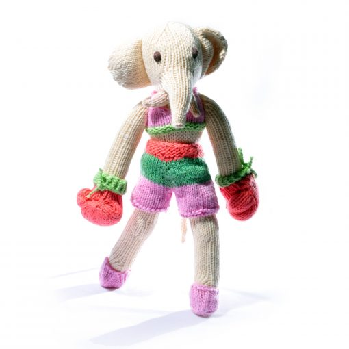 Elephant Soft Toy in Boxer Outfit