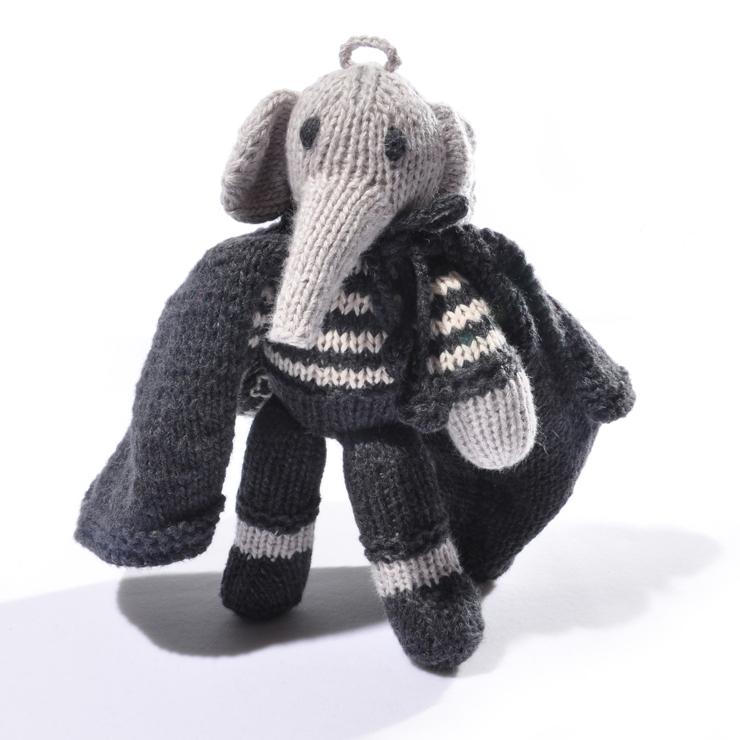 Halloween Elephant Toddler Soft Toy in Black Cape