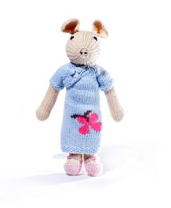 Pig Soft Toy in Chinese Flower Dress