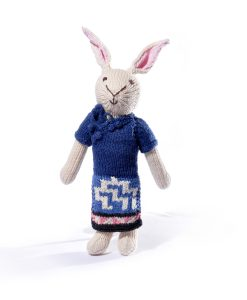 Rabbit Soft Toy in Pattern Dress