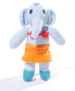Blue Elephant Toddler Soft Toy