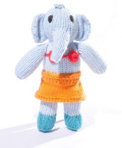 Blue Elephant Toddler Soft Toy