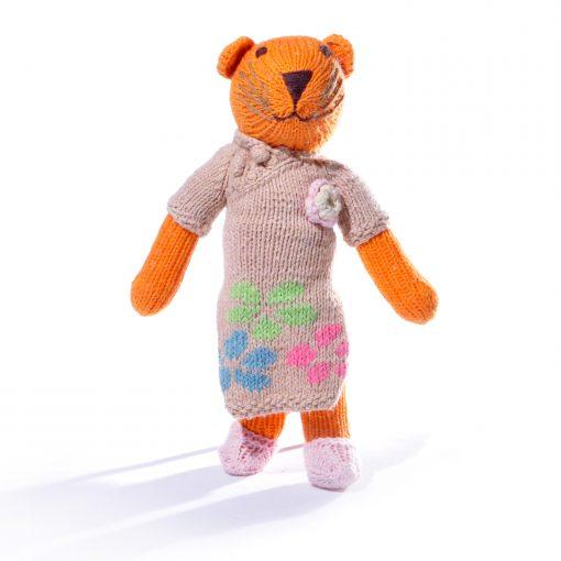 Tiger Soft Toy in Flower Dress