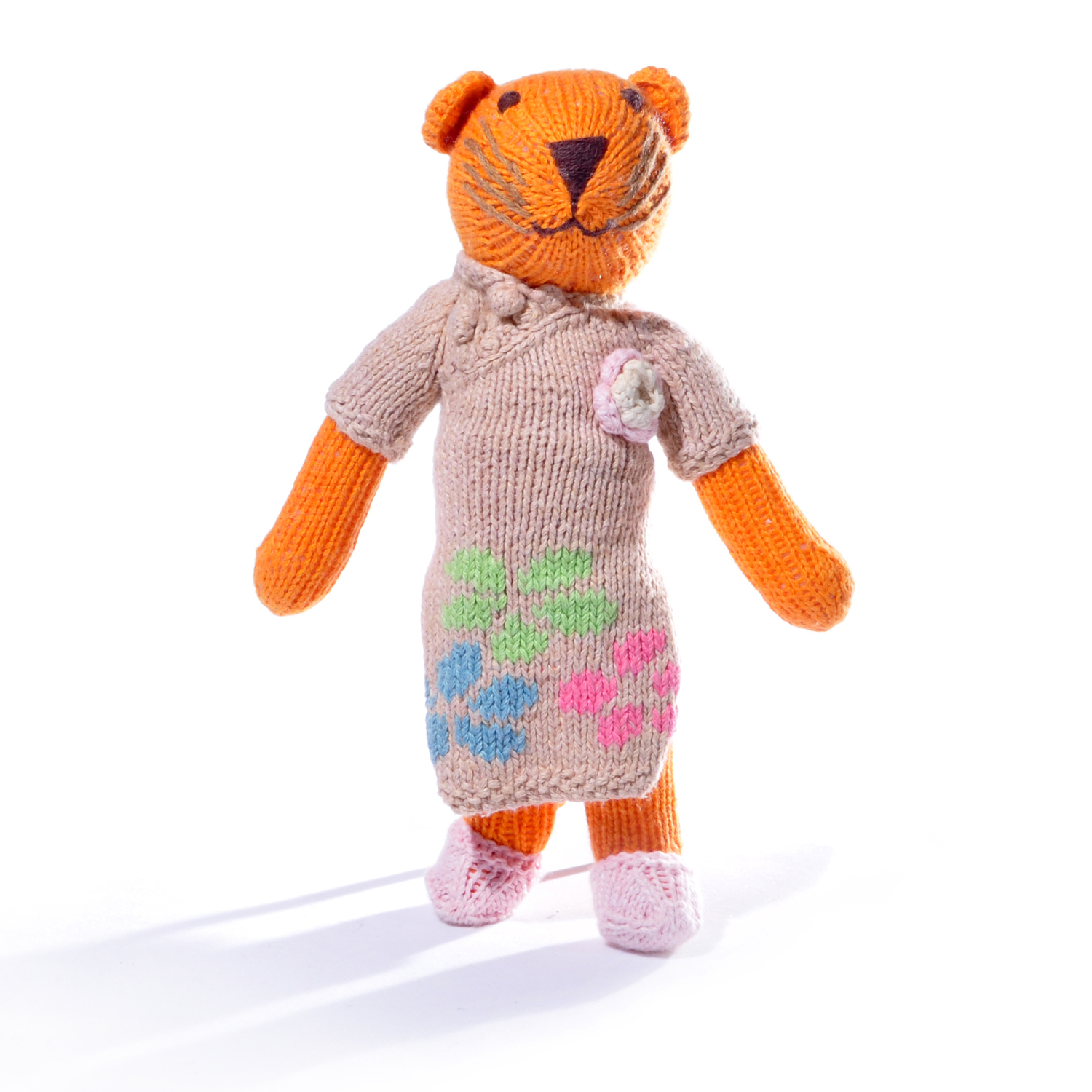 Tiger Soft Toy in Flower Dress