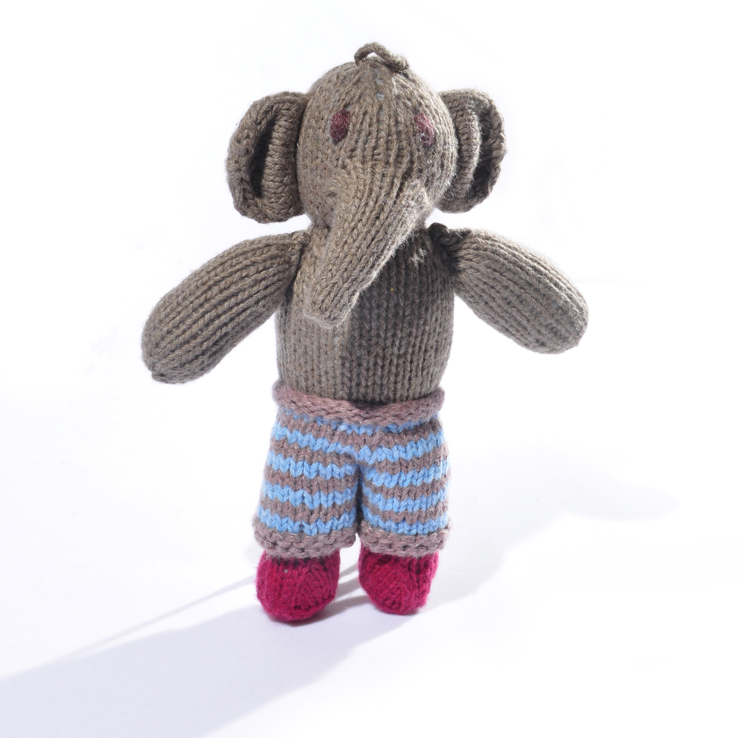 Elephant Toddler Soft Toy in Stripy Trousers