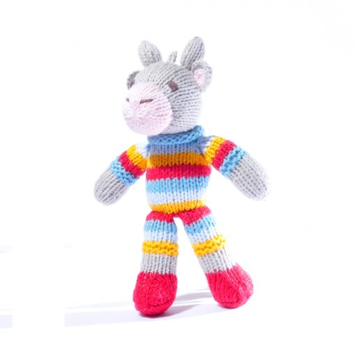 Cow Toddler Soft Toy in Stripy Suit