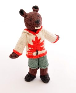 Beaver Soft Toy in Maple Hoodie