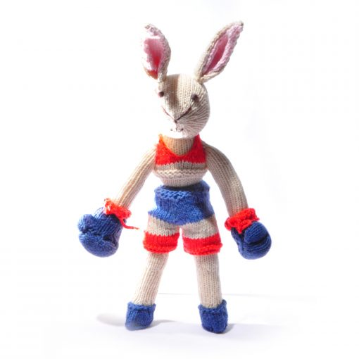 Rabbit Soft Toy in Kickboxer Outfit