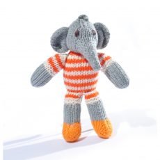 Elephant Toddler Soft Toy in Stripy Suit