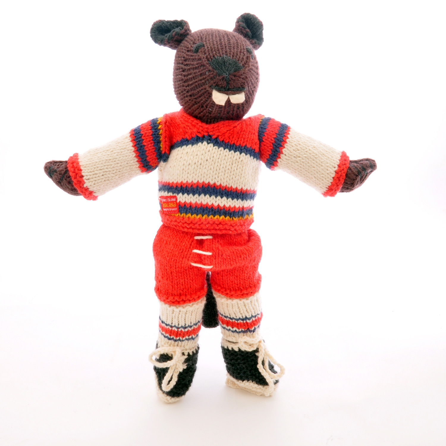 Beaver Soft Toy in Ice Hockey Outfit