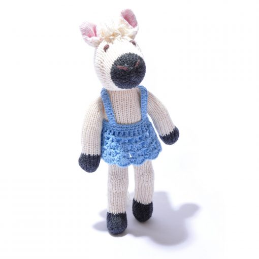 Horse Soft Toy in Blue Ballet Dress