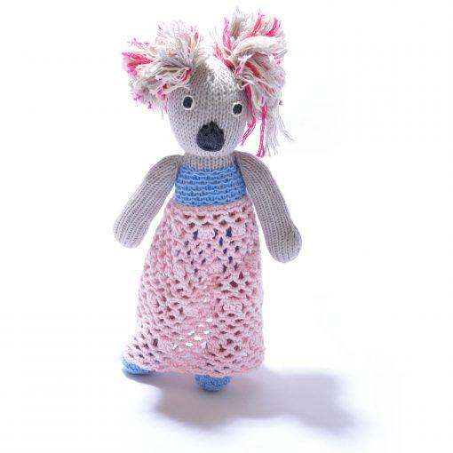 Koala Soft Toy in Crochet Dress