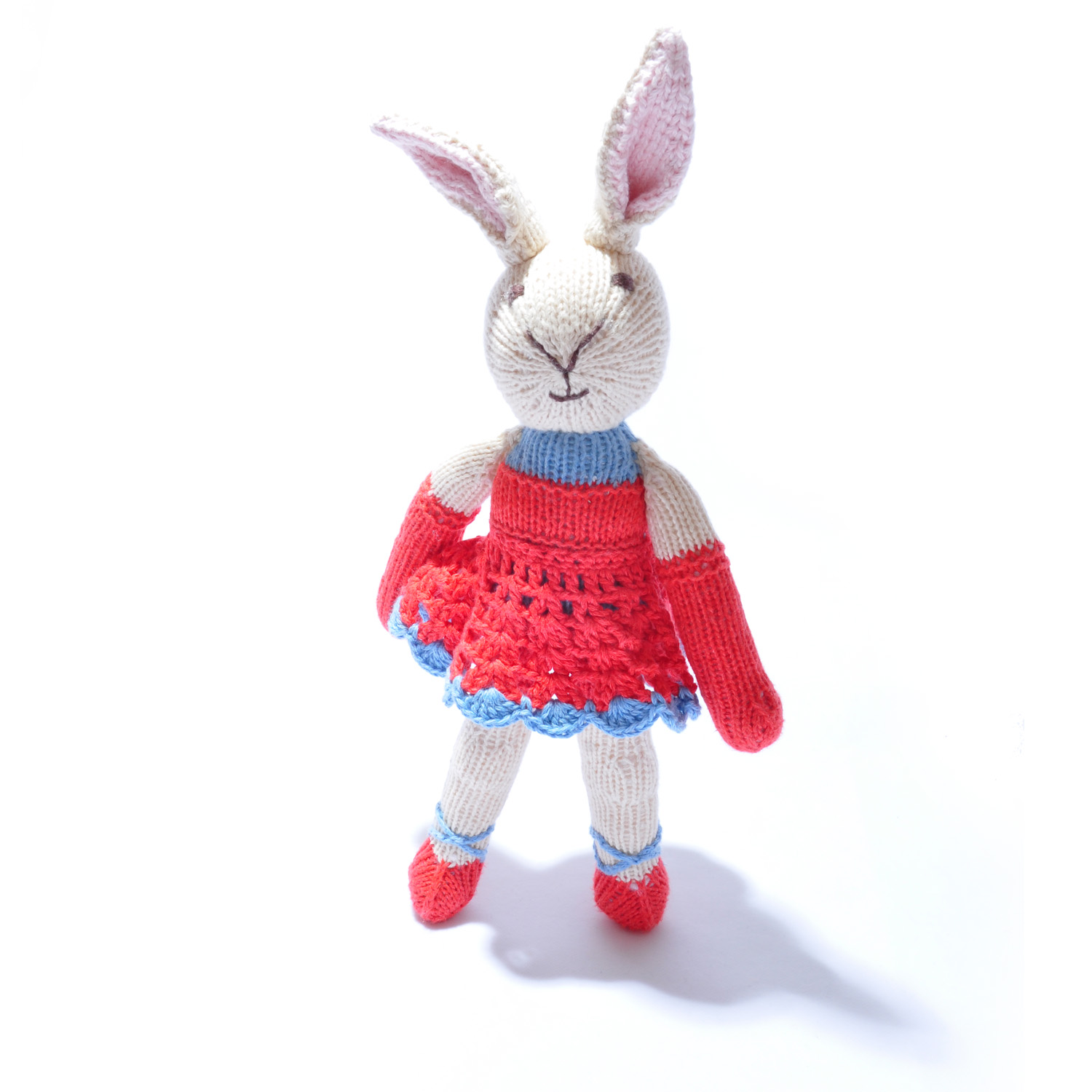 Rabbit Toy in Red Ballet Dress