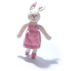 Rabbit Soft Toy in Textured Dress