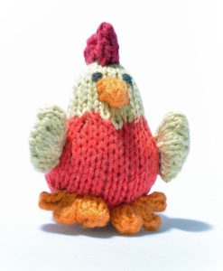 Red Chick Soft Toy in Organic Cotton