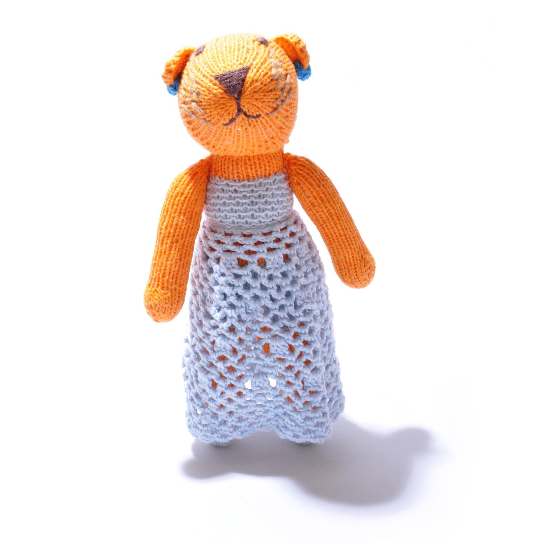 Tiger Soft Toy in Crochet Dress