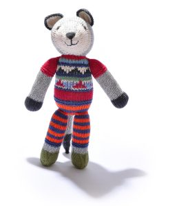 Wolf Soft Toy in Stripy Trousers