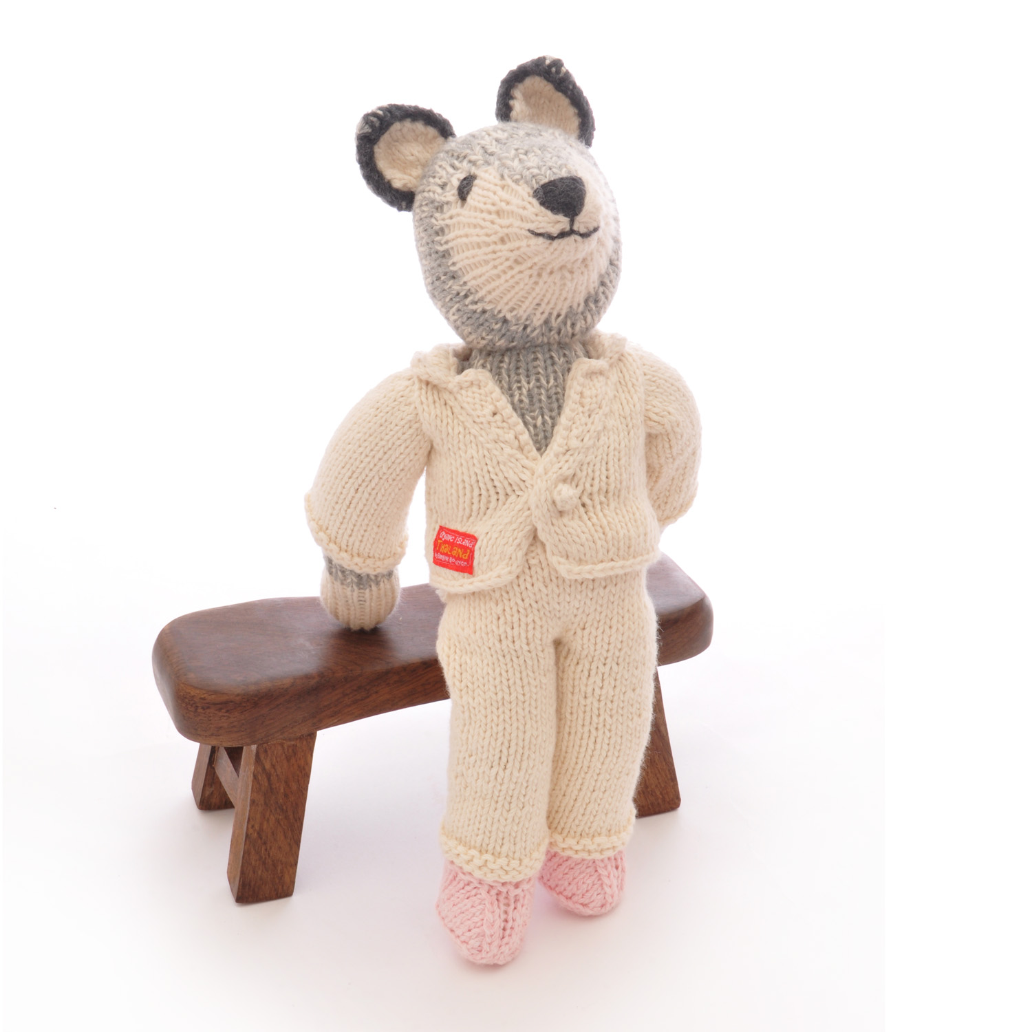 Wolf Soft Toy in White Suit