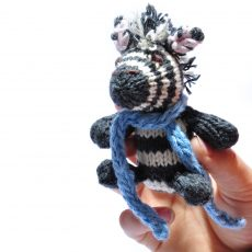 Zebra Baby Soft Toy with Blue Scarf