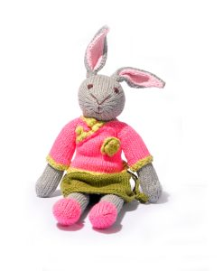 Rabbit Soft Toy in Chinese Outfit
