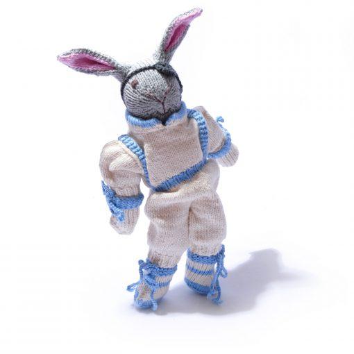 Organic Cotton Astronaut Bunny Soft Toy by ChunkiChilli