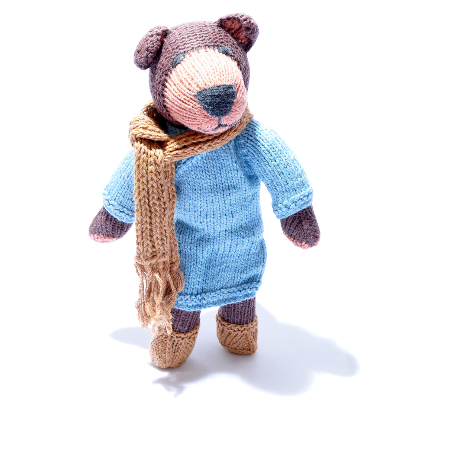 Brown Bear in Winter Outfit