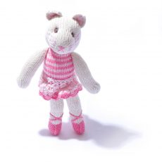 Organic Cotton Ballet Cat Soft Toy