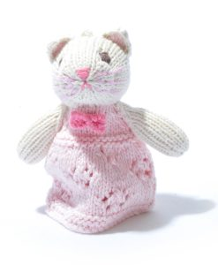 Organic Cotton Cat Toddler Finger Puppet by ChunkiChilli