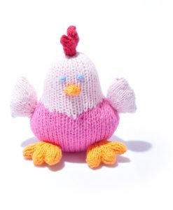 Organic Cotton Pink Chicken Soft Toy by ChunkiChilli