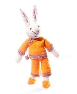 Rabbit Soft Toy in Orange Suit
