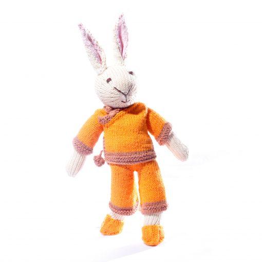 Rabbit Soft Toy in Orange Suit