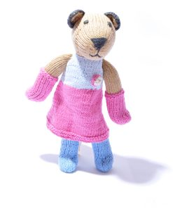 Cougar Soft Toy in Twotone Pink Dress by ChunkiChilli